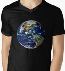 Earth from Space Men's V-Neck T-Shirt