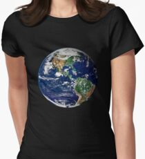 Earth from Space Women's Fitted T-Shirt