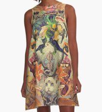 Meowosaurus A-Line Dress