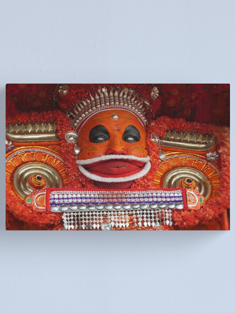 Alternate view of the theyyam dancer Canvas Print