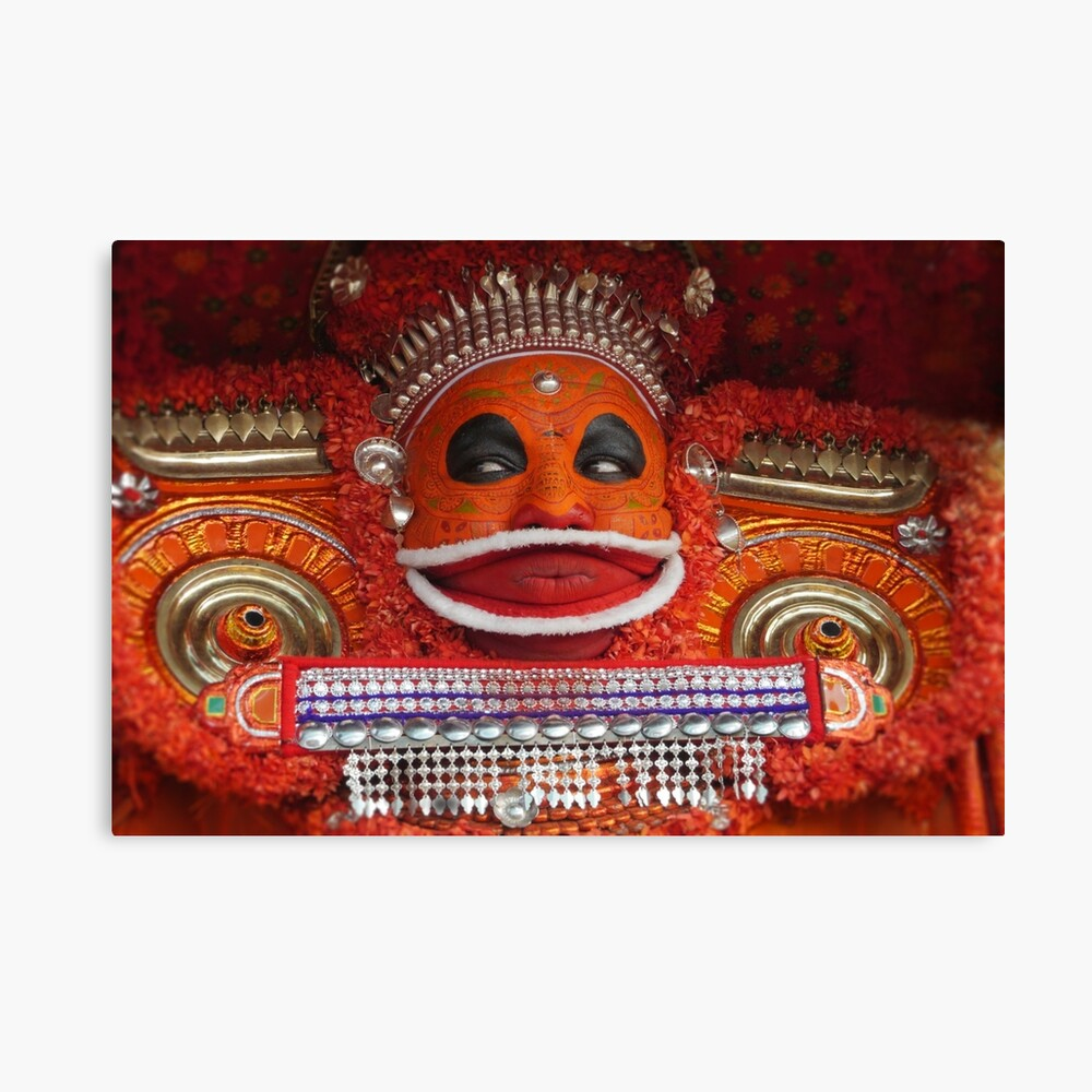 the theyyam dancer Canvas Print
