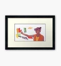 Girl with HoloLens Framed Print