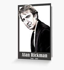 alan rickman Greeting Card