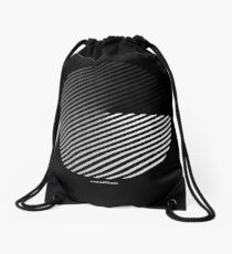 Stripes can be in a disc Drawstring Bag
