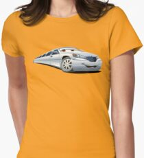 Cartoon Limo Womens Fitted T-Shirt