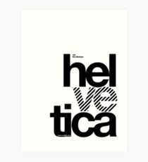 Hel ve tica (b) .... Art Print