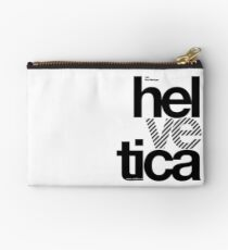 Hel ve tica (b) .... Zipper Pouch
