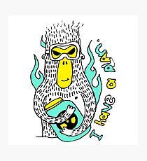 Evil genius monkey Photographic Print