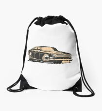 Cartoon retro car Drawstring Bag