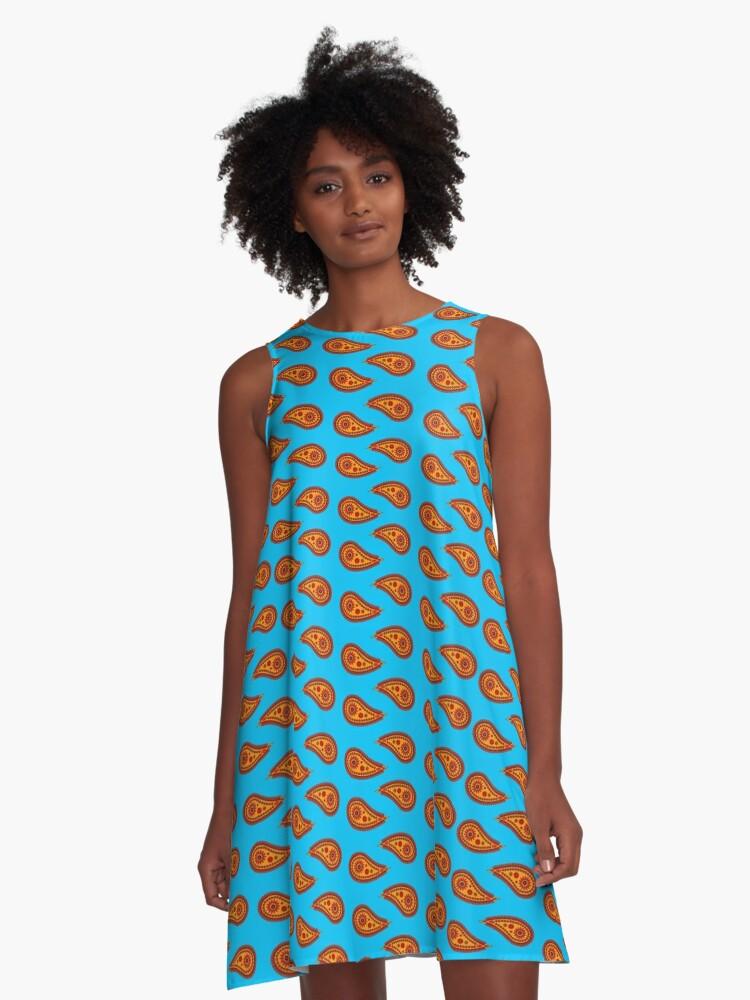 paisley patch 001 A-Line Dress Front