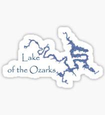 Pegatina Lago de los Ozarks Missouri