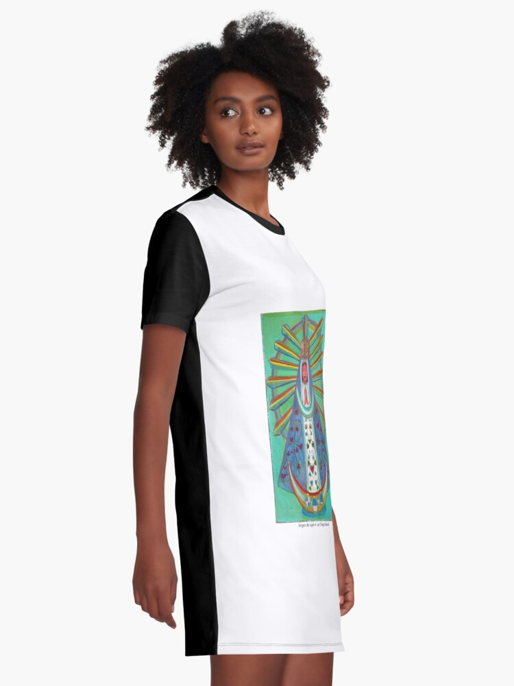 Alternate view of Virgin of Lujan 4 by Diego Manuel Graphic T-Shirt Dress