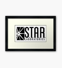 S.T.A.R. Laboratories | Black [HD] Framed Print