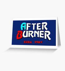 AFTER BURNER SEGA ARCADE Greeting Card