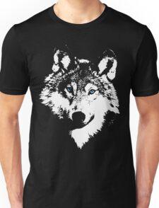 Blue Eyed White Wolf Unisex T-Shirt