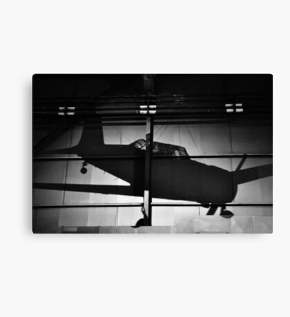 Memory of flight shadow of jet fighter wwii plane Canvas Print