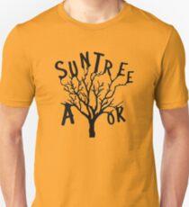 Camiseta ajustada SUN TREE A-OK (Diseño de ventilador de rol crítico)