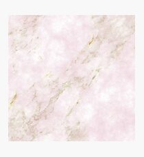 Rose Gold Marble Photographic Print