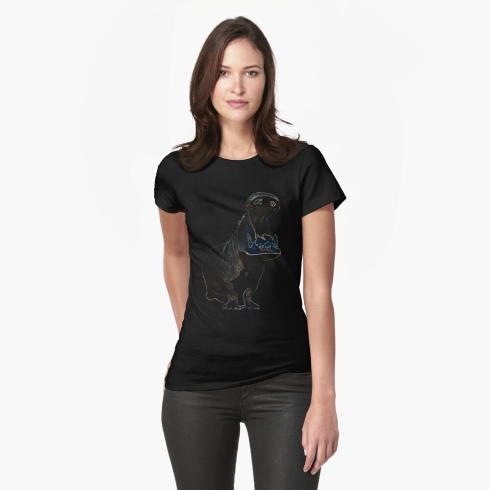 Nilpferd Tailliertes T-Shirt