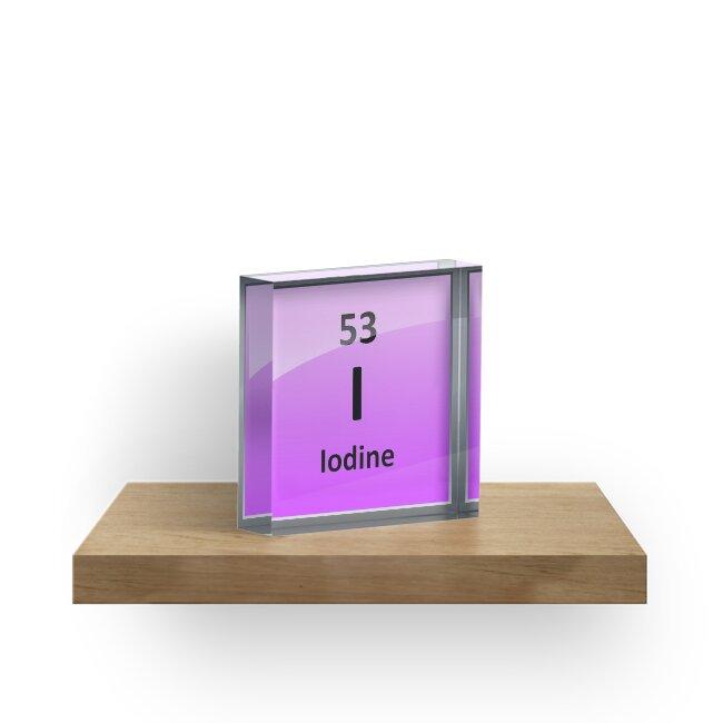 Iodine element symbol periodic table acrylic blocks by iodine element symbol periodic table by sciencenotes urtaz Image collections