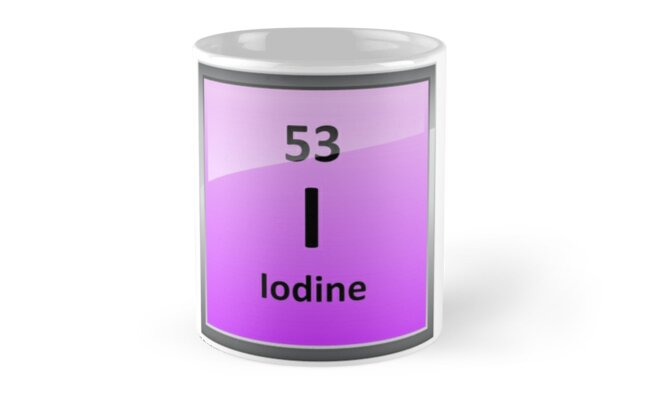 Iodine element symbol periodic table mugs by sciencenotes redbubble iodine element symbol periodic table urtaz Choice Image