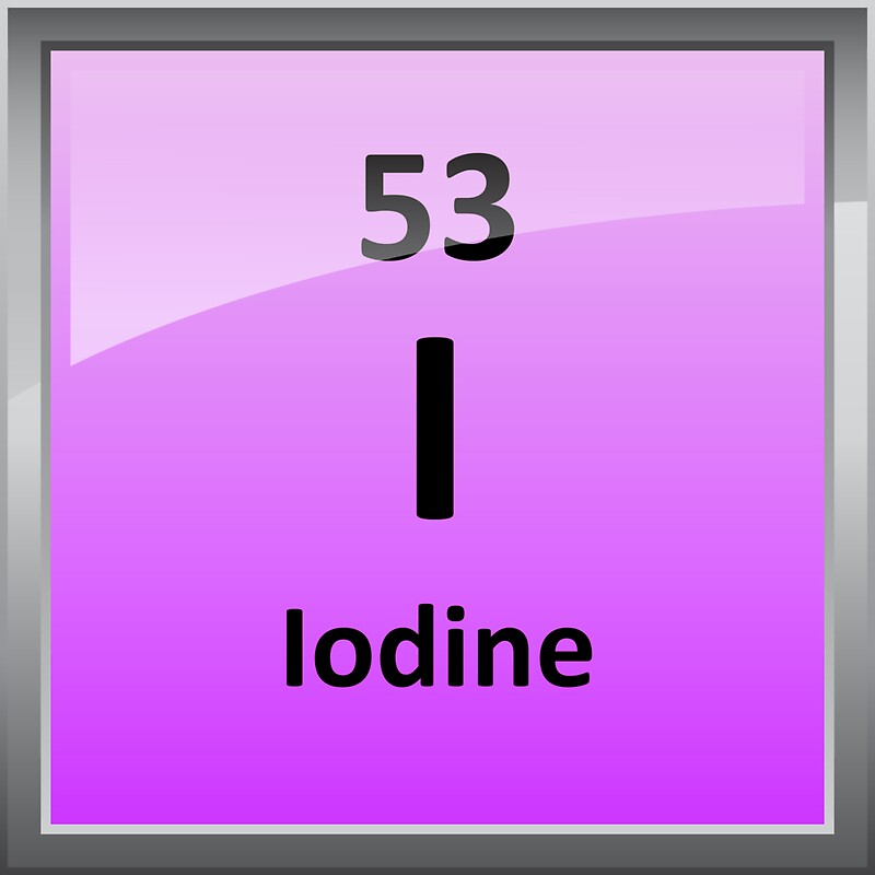 Iodine Element Symbol Periodic Table Stickers By Sciencenotes