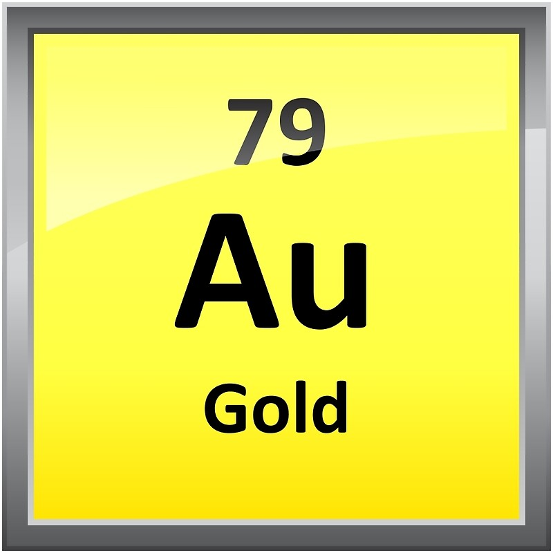 Gold Chemical Element Symbol Periodic Table Metal Print By Sciencenotes