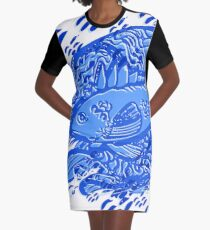 Fish in Water Graphic T-Shirt Dress