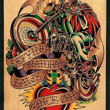 Jesus Wheelie by chuckcarvalho