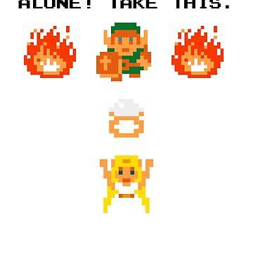 It's Dangerous, Take This! Wedding Zelda by Nimose