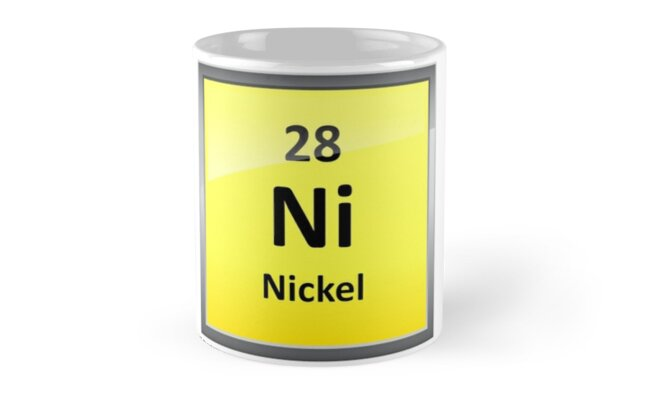 Nickel Element Symbol Periodic Table Mugs By Sciencenotes Redbubble
