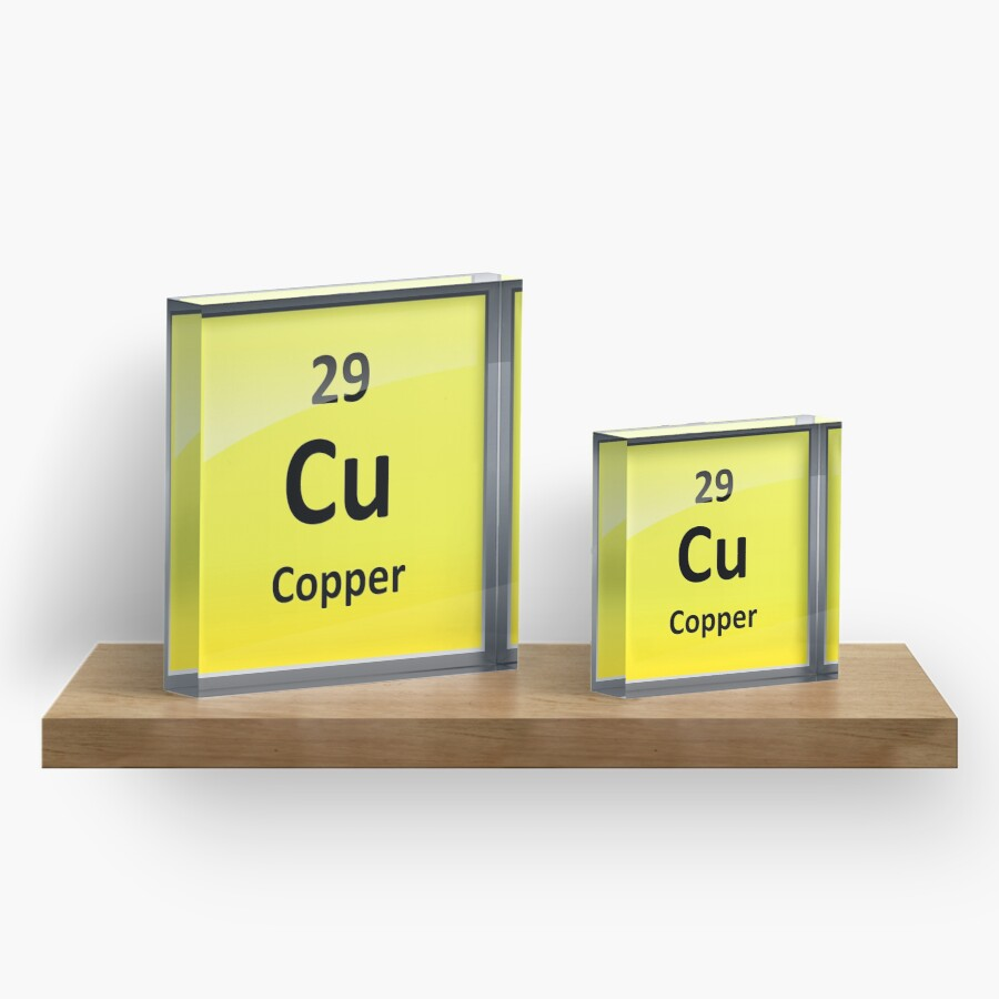 Copper element symbol periodic table acrylic blocks by copper element symbol periodic table biocorpaavc Choice Image