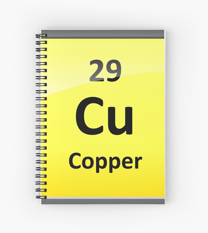 Copper element symbol periodic table spiral notebooks by copper element symbol periodic table by sciencenotes urtaz Choice Image