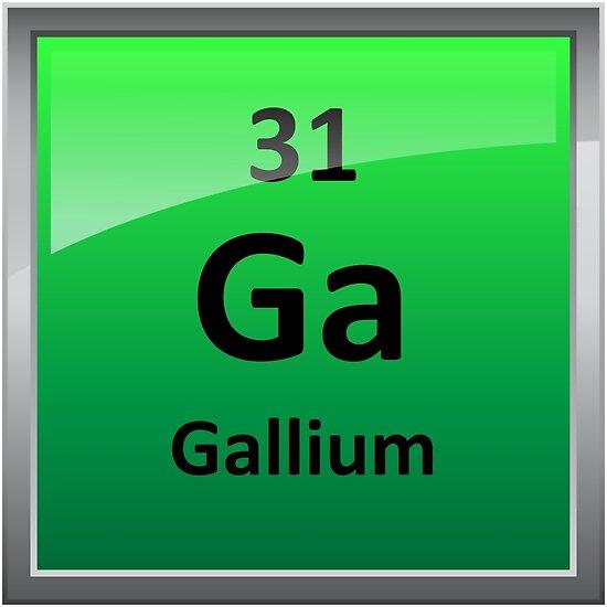 smbolo del elemento de galio tabla peridica de sciencenotes - Tabla Periodica De Los Elementos Galio