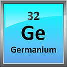 Germanium Element Tile - Periodic Table by sciencenotes