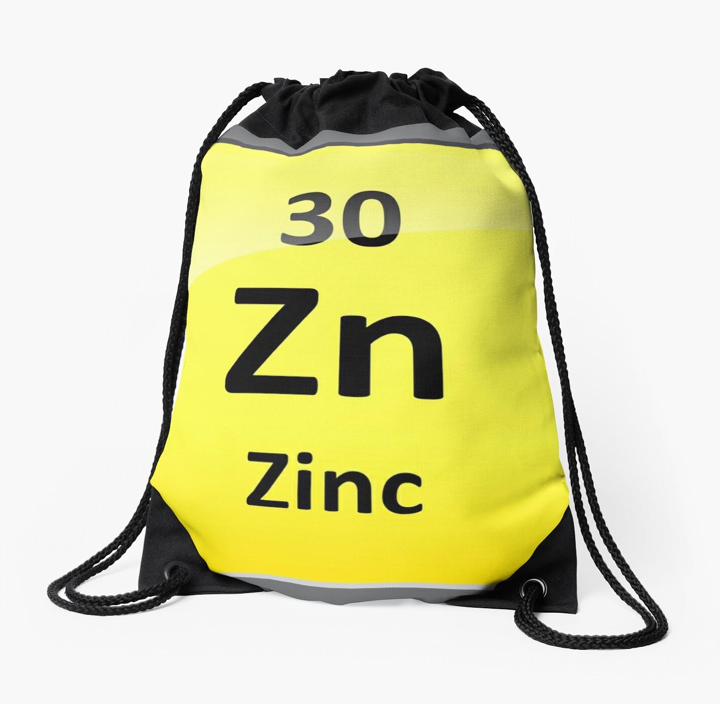 Mochilas de cuerdas smbolo del elemento de zinc tabla peridica smbolo del elemento de zinc tabla peridica de sciencenotes urtaz Images