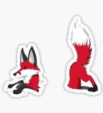 "Stuck ""Red"" Fox Sticker"