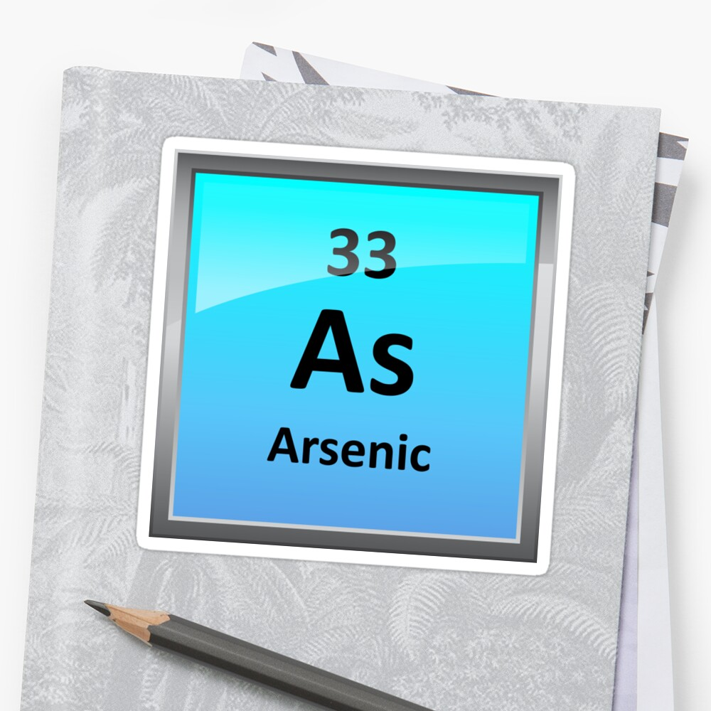 Arsenic element symbol periodic table stickers by sciencenotes arsenic element symbol periodic table by sciencenotes biocorpaavc Image collections