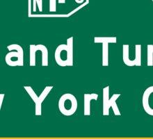 Holland Tunnel-New York City, NJTP, Road Sign, USA Sticker