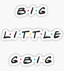 big / little / gbig - friends trio group stickers Sticker