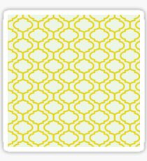 Mughal lattice bright yellow pattern Sticker