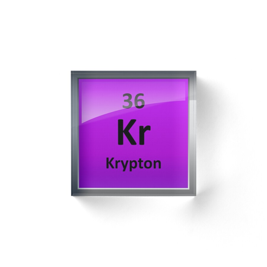 Krypton element symbol periodic table acrylic blocks by krypton element symbol periodic table by sciencenotes buycottarizona