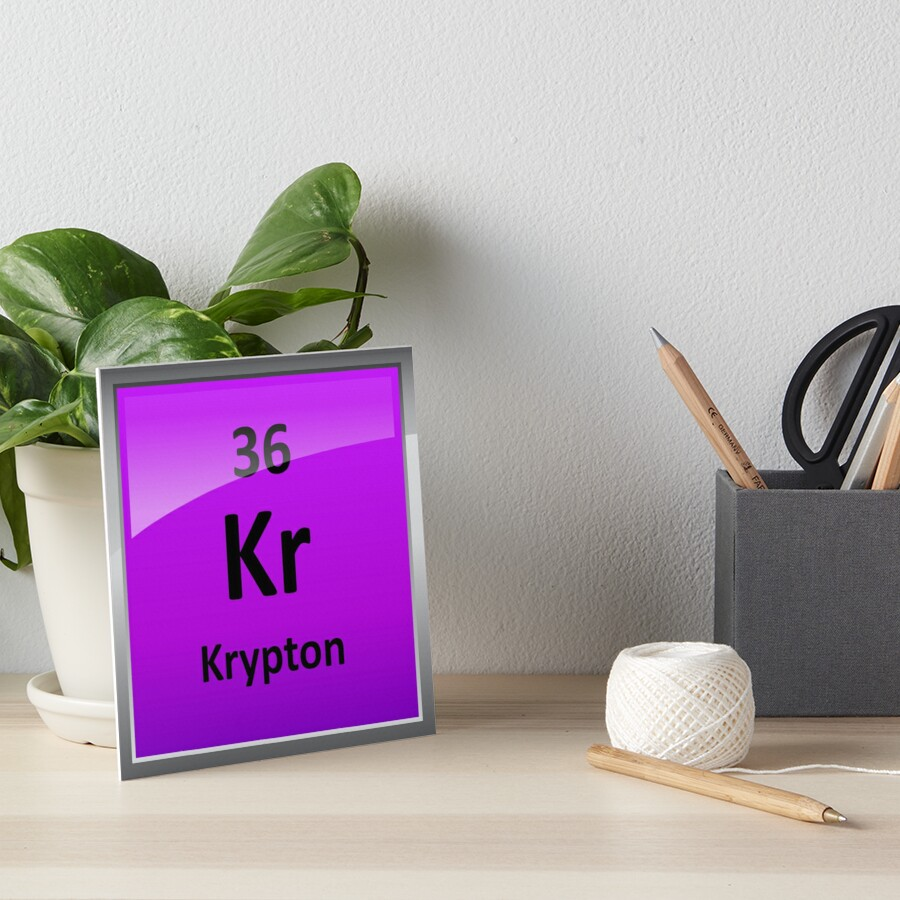 Krypton element symbol periodic table art boards by krypton element symbol periodic table by sciencenotes buycottarizona