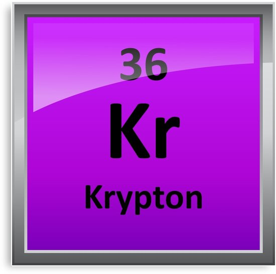 Krypton Element Symbol Periodic Table Canvas Prints By