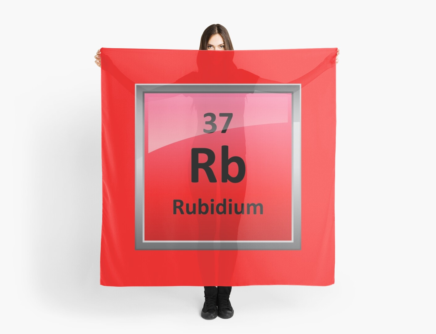 Rubidium Element Symbol Periodic Table Scarves By Sciencenotes
