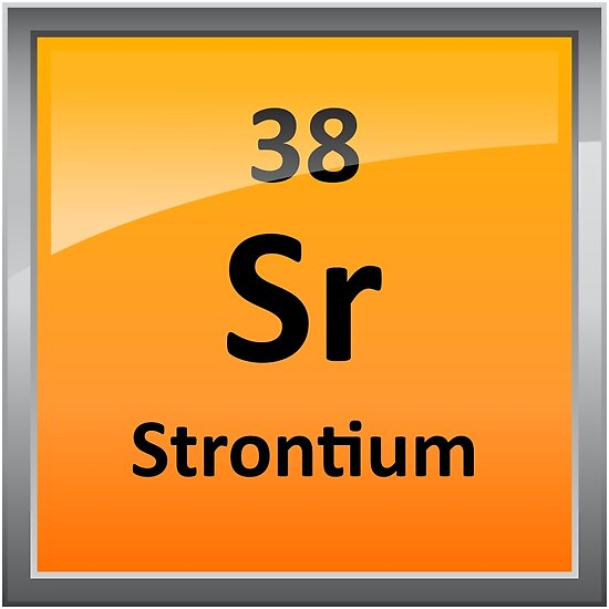 Strontium Element Symbol Periodic Table Posters By Sciencenotes