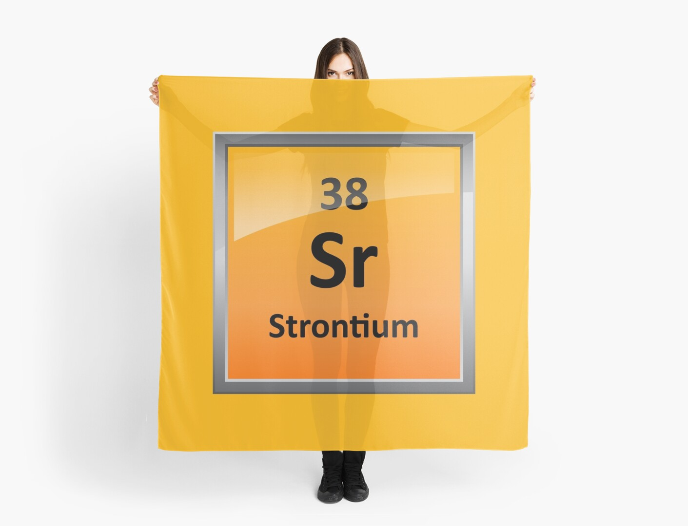 Strontium Element Symbol Periodic Table Scarves By Sciencenotes