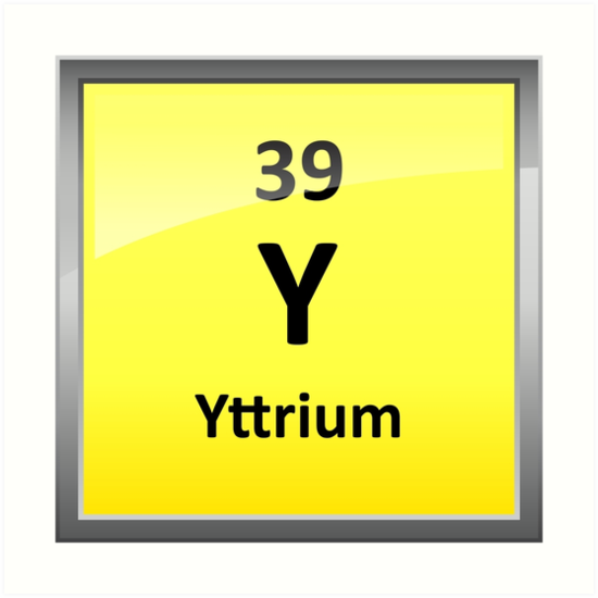 Yttrium element symbol periodic table art prints by sciencenotes yttrium element symbol periodic table urtaz Choice Image