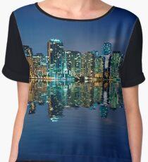 Miami Skyline at night Chiffon Top