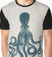 Octopus Scientific Illustration Graphic T-Shirt